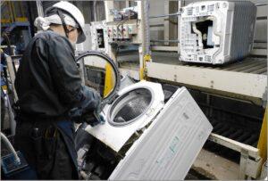 ドラム式洗濯機解体ライン